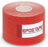 Tejp kineziologický Epos bavlna - červený 5cmx5m