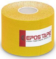 Tejp kineziologický Epos bavlna - žlutý 5cmx5m