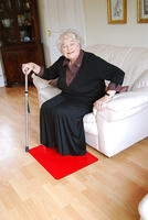 Tenura - rohož na podlahu, 60cm x 45cm, modrá