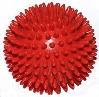 Míč masážní ježek pr. 9 cm - červený