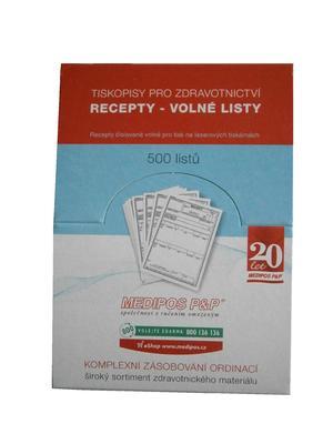 Recept - volné listy / 500 ks - krabička  - 1