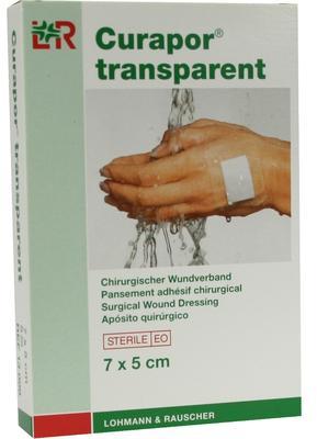 Curapor Transparent 7cmx 5cm/5ks  - 1