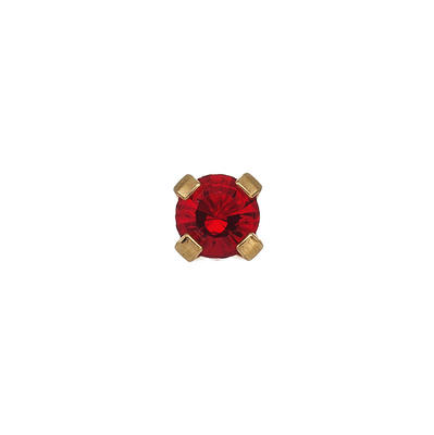 Náušnice-3mm Rubín krystal ve zlatě (133)  - 1