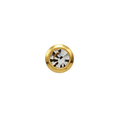 Náušnice-2mm krystal ve žluté fazetě (139)  - 1