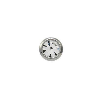 Náušnice-2mm krystal v bílé fazetě (140)  - 1