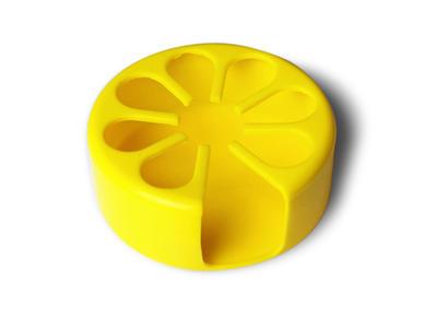 Tenura - držák na nápoje, žlutý, průměr 9cm