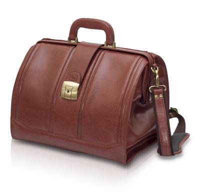 EB-tradiční taška lékařská, hnědá  kůže  - 1