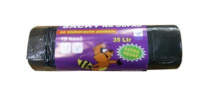 Odpadový pytel !!! zatahovací !!! 35l, 500x600, LDPE, 50 mi