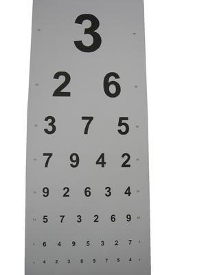 Optotyp číslice / papír