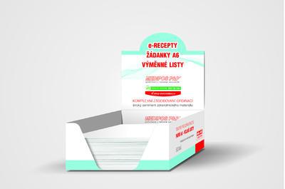 Papír pro tisk eReceptu A6 - volné prázdné listy, krabička 500ks  - 1