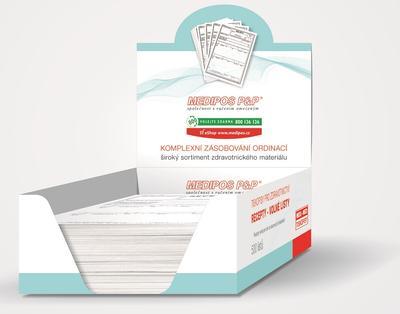 Recept - volné listy / 500 ks - krabička/V18  - 1