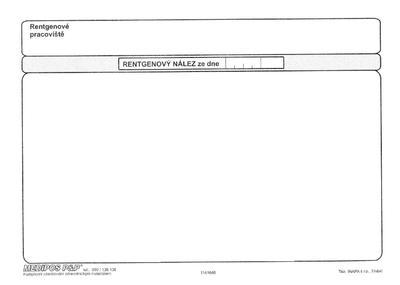 Průvodní list k RTG vyšetření  - 2
