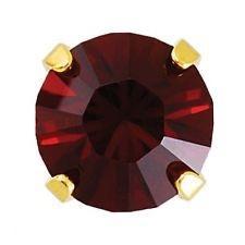 Náušnice-3mm Rubín krystal ve zlatě (133)  - 2