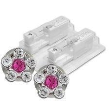 Náušnice-Kytička růžová/bílý krystal (157)  - 2