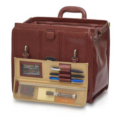 EB-tradiční taška lékařská, hnědá  kůže  - 2