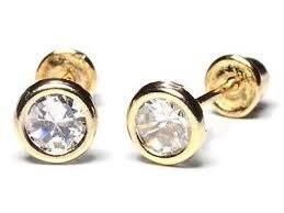 Náušnice-2mm krystal ve žluté fazetě (139)  - 2