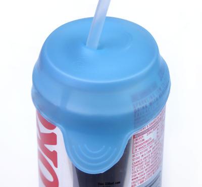 Tenura - víčko na nápoje, modré, průměr 6 a 8cm, 2ks  - 3