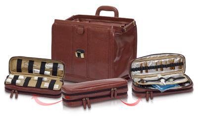 EB-tradiční taška lékařská, hnědá  kůže  - 4