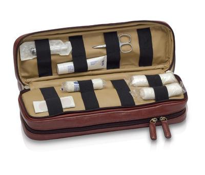 EB-tradiční taška lékařská, hnědá  kůže  - 5